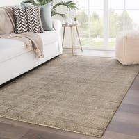 Kent Handmade Solid Brown/ Yellow Area Rug - 10' x 14'