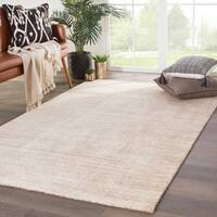 "Kent Handmade Solid Beige/ Brown Area Rug - 7'9"" x 9'9"""