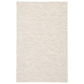 "Fifer Handmade Trellis Ivory/ Gray Area Rug - 8'10"" x 12'"