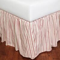 Joyful Stripe Cotton Bed Skirt, King
