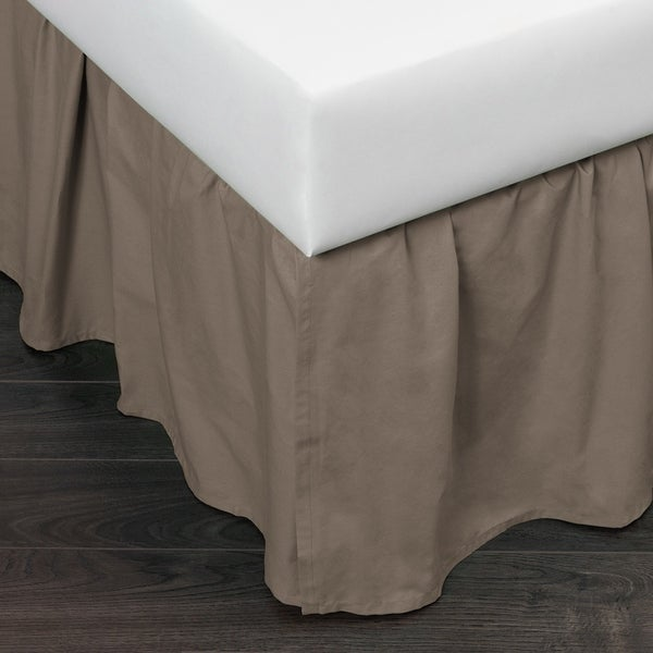 Shop Mandie Charcoal Brown Gathered Bed Skirt Free Shipping Today Overstock 22466385