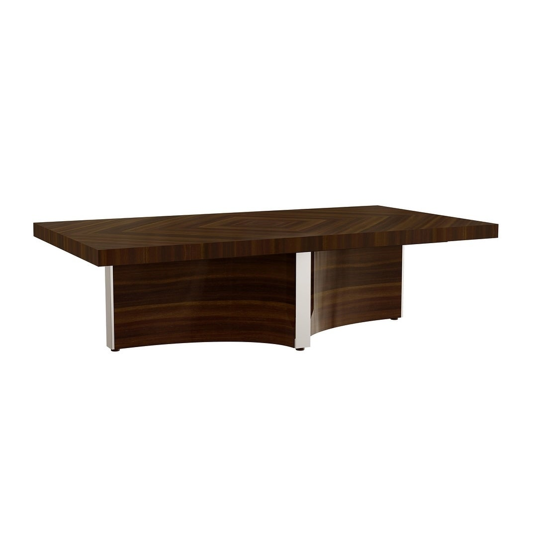 Walnut Finish Coffee Table (Taupe)