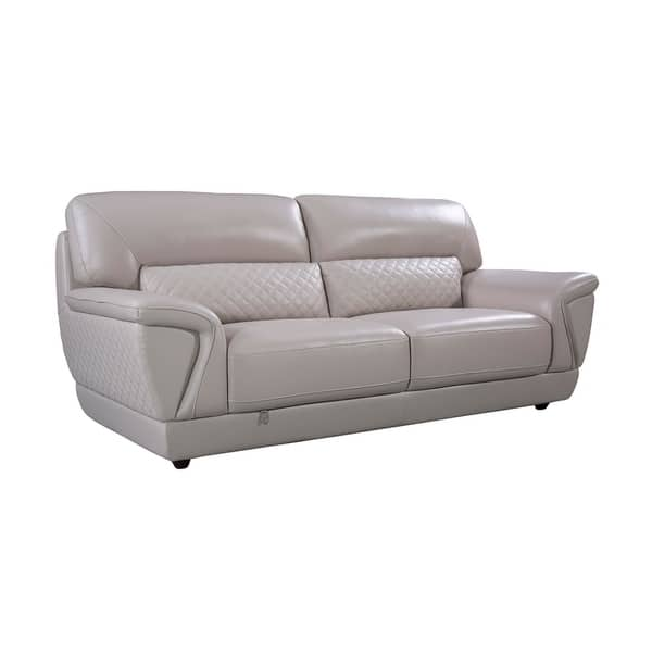 Shop Modern Italian Leather Upholstered Sofa - On Sale ...