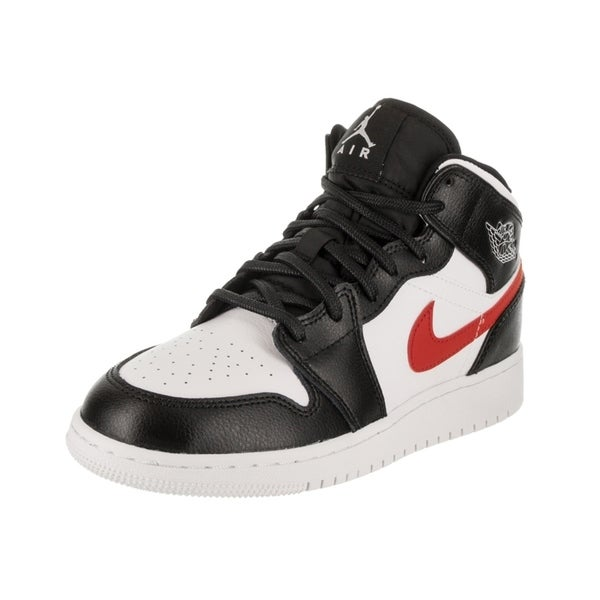 new style b3315 40951 Nike Jordan Kids Air Jordan 1 Mid BG Basketball Shoe