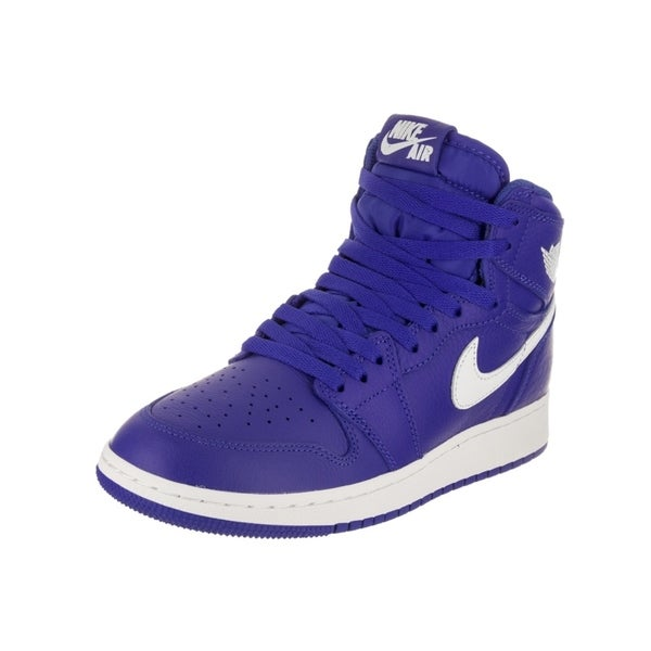 7c19d8f4fab Shop Nike Jordan Kids Air Jordan 1 Retro High OG GS Basketball Shoe ...