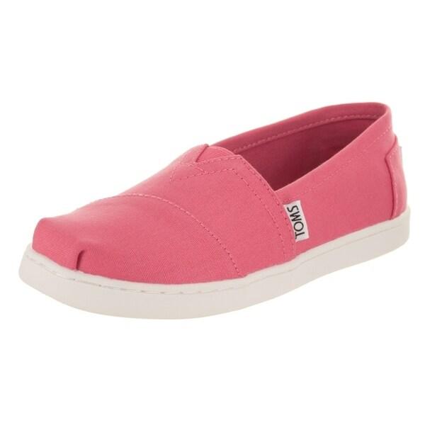 f0a9487ebe0b Shop Toms Kids Classic Bubblegum Pink Casual Shoe - Free Shipping On ...
