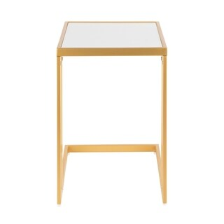 Silver Orchid Joy Contemporary Glam Side Table