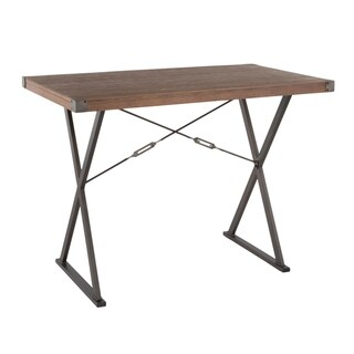 Link to Carbon Loft Wiley Industrial Counter Height Dining Table in Antique/Brown Similar Items in Dining Room & Bar Furniture