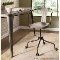 Oregon Industrial Task Chair in Metal and Wood by LumiSource