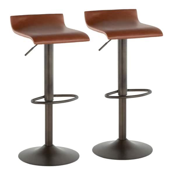 Peachy Shop Carbon Loft Hess Industrial Barstool In Antique Metal Ibusinesslaw Wood Chair Design Ideas Ibusinesslaworg