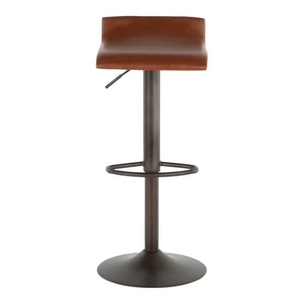 Cool Shop Carbon Loft Hess Industrial Barstool In Antique Metal Ibusinesslaw Wood Chair Design Ideas Ibusinesslaworg