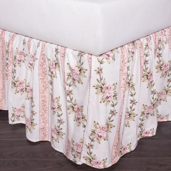 Celeste Pink Cotton Bed Skirt
