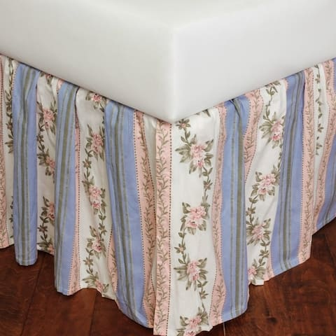 Celeste Pink Cotton Bed Skirt