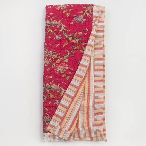 French Print Throw Blanket