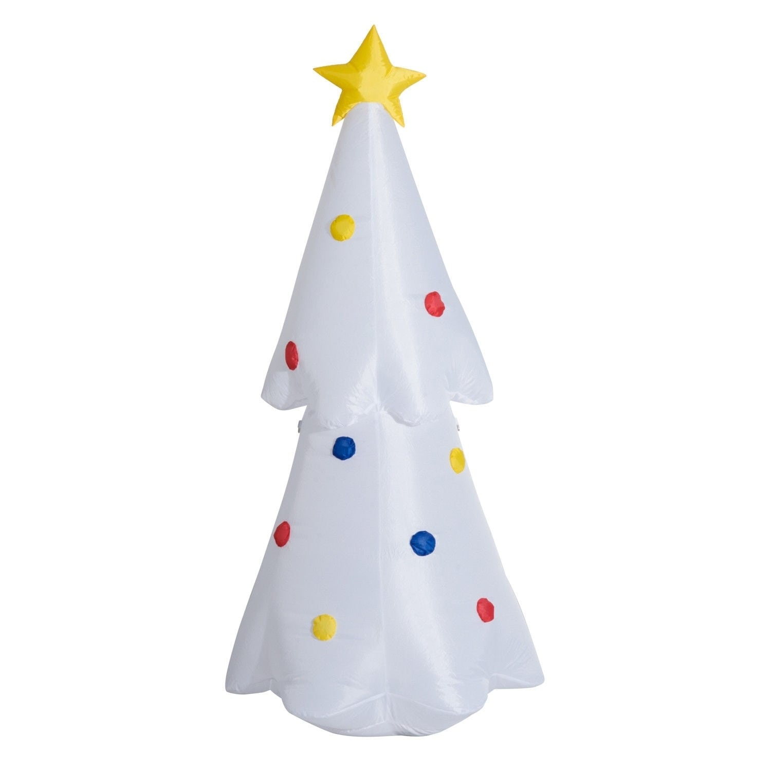 Christmas Tree Inflatable.Homcom 6 Ft Outdoor Lighted Airblown Inflatable Christmas Lawn Decoration Christmas Tree With Star And Multicolor Lights