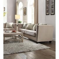 Januario Beige Fabric Sofa with 4 Pillows