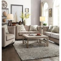 Januario Beige Down Feather 2-pillow Loveseat