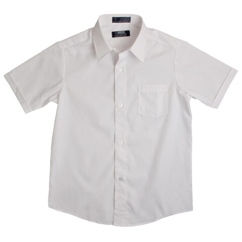 French Toast Short Sleeve Dress Shirt With Expandable Collar Boys