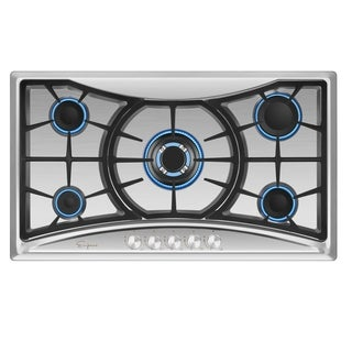 "Empava 36"" Built-in Gas Cooktop Stainless Steel 5 Italy Sabaf Burners Stove Top"