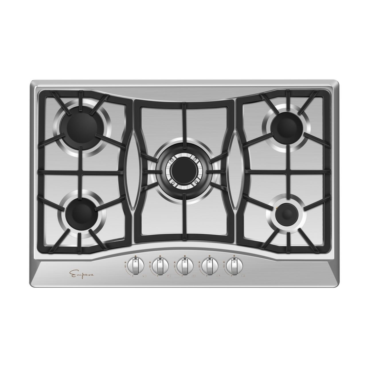 30 inches Gas Cooktop 5 Burners Gas Stove gas hob stovetop Stainless Steel Cooktop 5 Sealed Burners Cast Iron Grates Built-in Gas Stove Top LPG//NG Gas Cooktop Thermocouple Protection and Easy to Clean