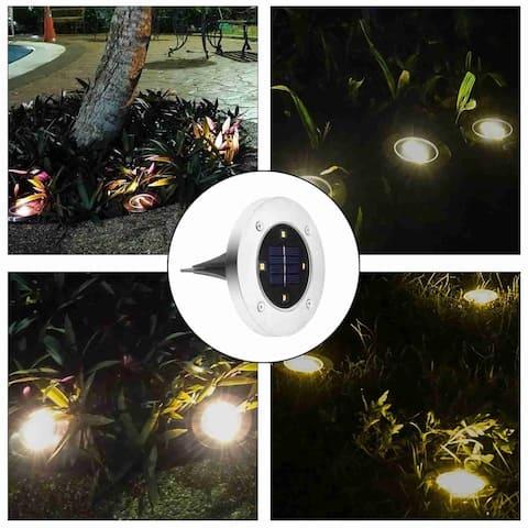 Solar Powered Ground Light Outdoor Waterproof Garden Pathway Lights
