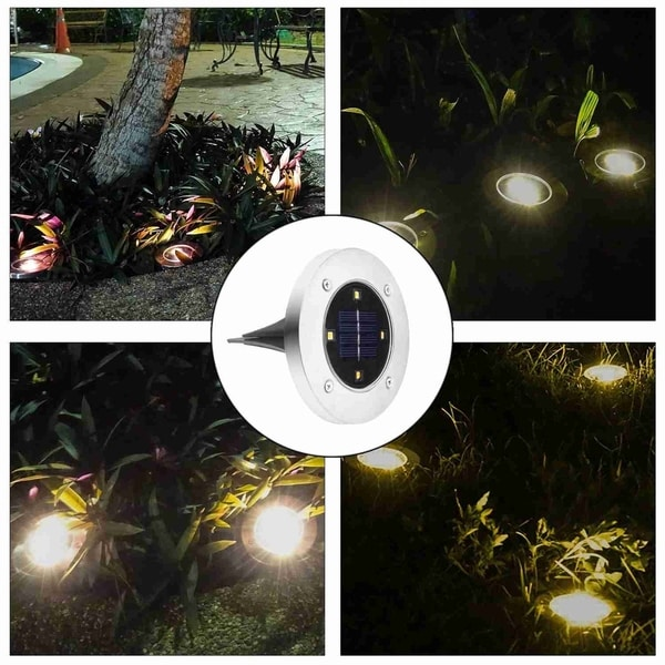 Solar Ed Ground Light Outdoor Waterproof Garden Pathway Lights