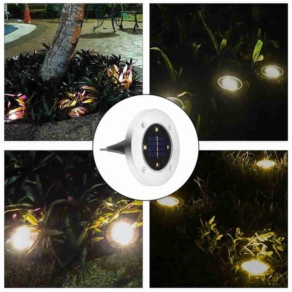 Solar Ed Ground Light Outdoor Waterproof Garden