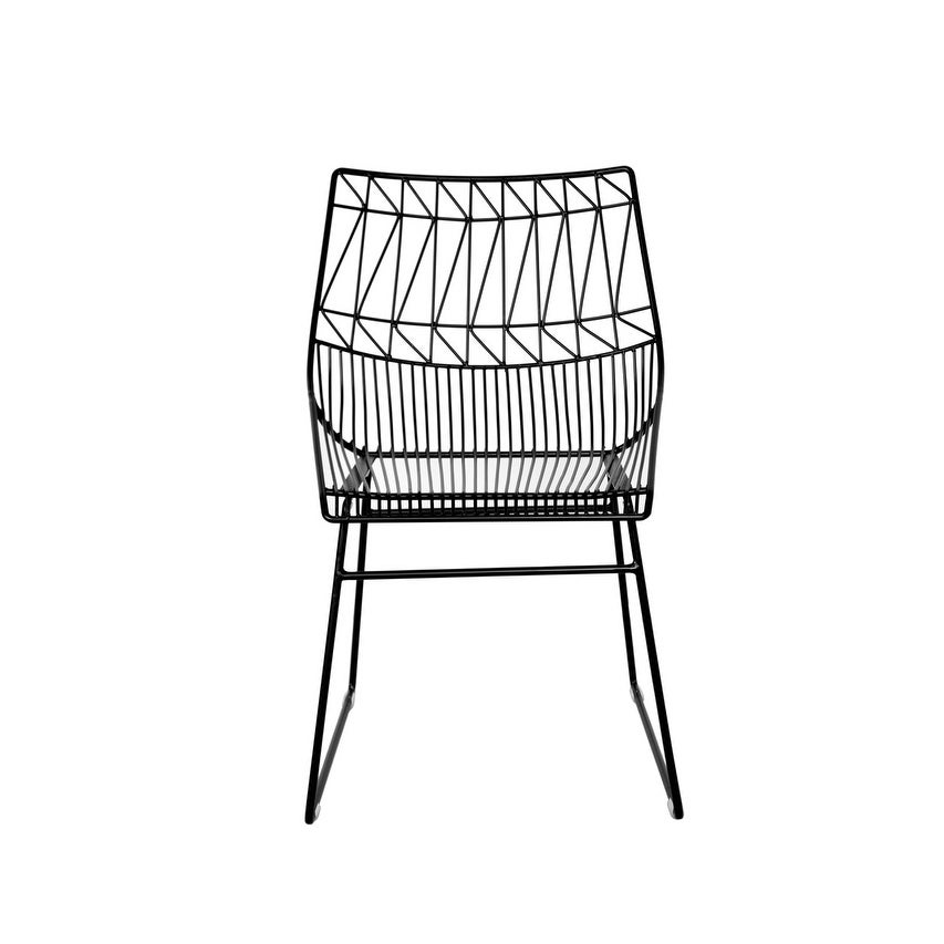 Cafe Wire Dining Chair Black