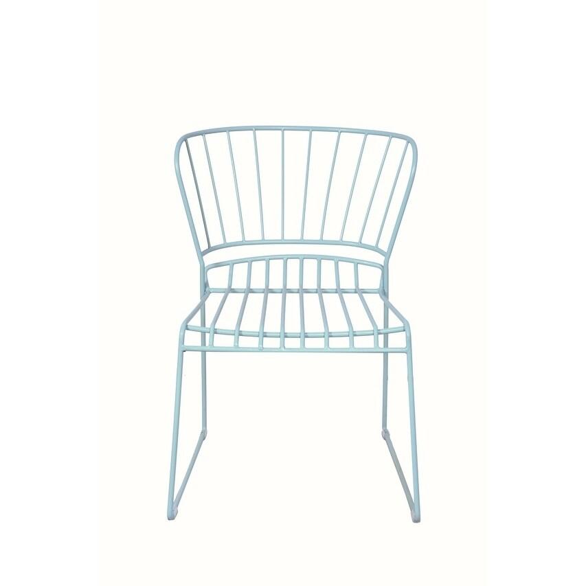 Sophia Ocean Green Iron Chair
