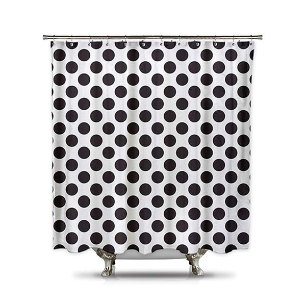 Shop Black And White Polka Dot Shower Curtain On Sale Free