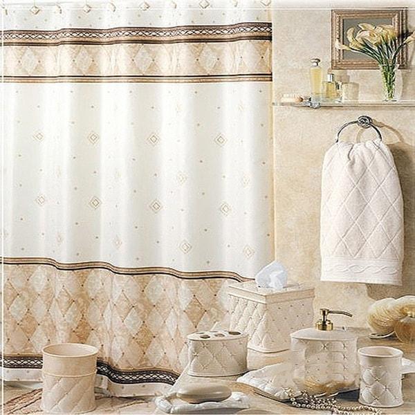 Nice Marble Waterproof Bathroom Polyester Shower Curtain Liner Water Resistant