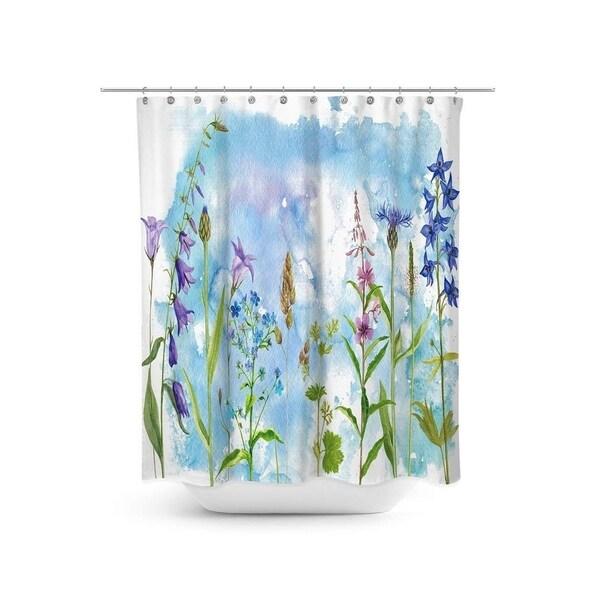 Shop Wild Flowers Shower Curtain Set On Sale Free