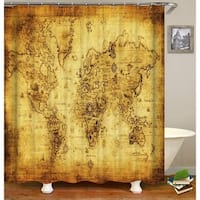 Shop laural home abstract world map shower curtain on sale free shipping today overstock - Old world map shower curtain ...