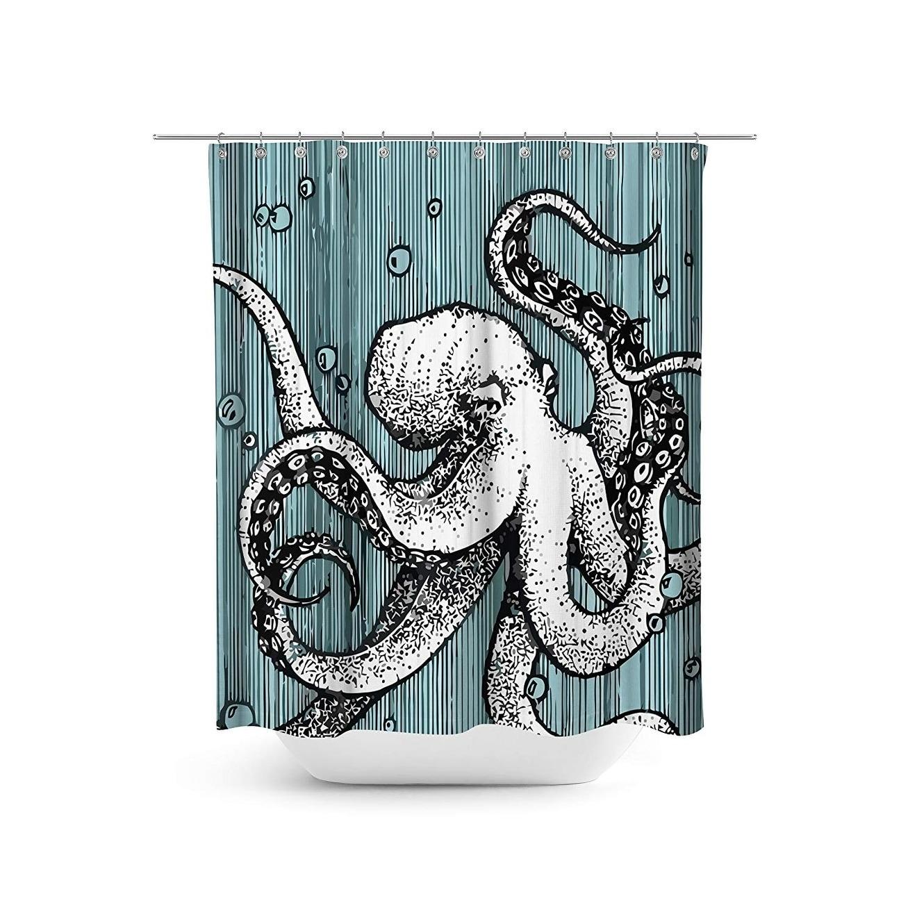 Octopus Shower Curtain Set 72 X 72