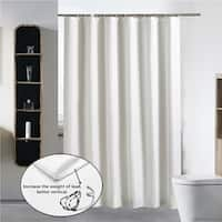 Mildew-Free Water-Repellent Polyester Fabric Shower Curtains