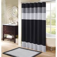 Windsor Shower Curtain Black - Grey