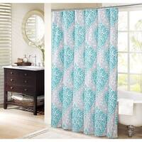 Coco Shower Curtain - Teal and Grey
