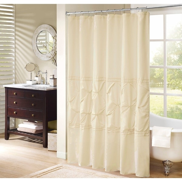 Shop Cavoy Shower Curtain Ivory Tufted Pattern On Sale
