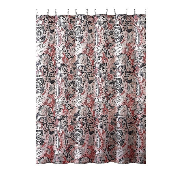 Shop Elegant Gray Pink Taupe Fabric Shower Curtain On