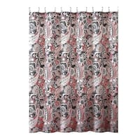 Elegant Gray Pink Taupe Fabric Shower Curtain
