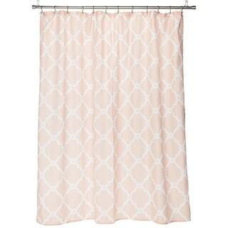 Simple Geometric Casual Shower Curtains Blush