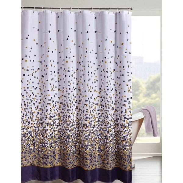 Shop Confetti Design Fabric Shower Curtain