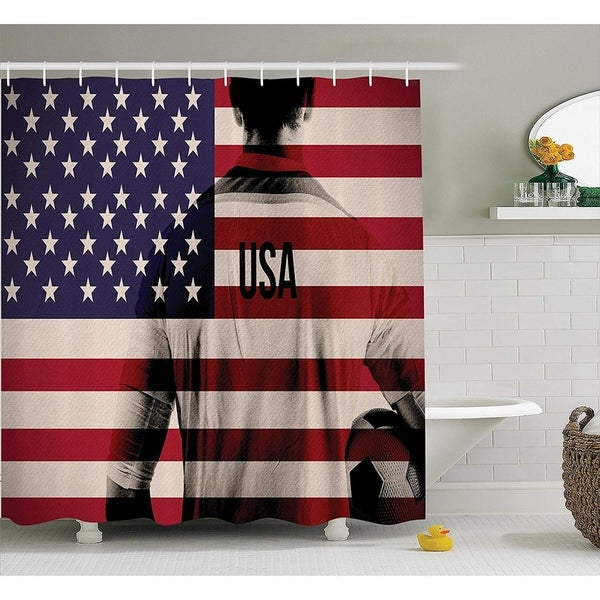 Shop Sports Decor Shower Curtain Set American Flag National