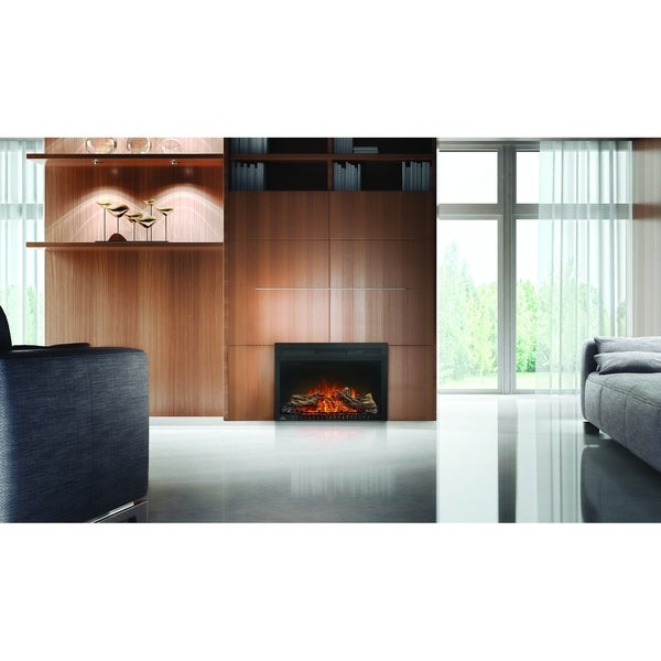 Napoleon Cinema Series 27-inch Built-In Electric Fireplace with Logs