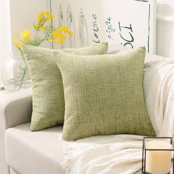 Velvet Plush Decorative Throw Pillow Cover Fresh Grass Green
