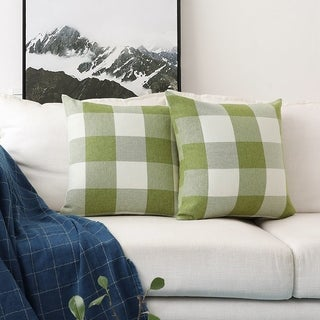 Buffulo Checkers Plaids Decorative Throw Pillow Covers