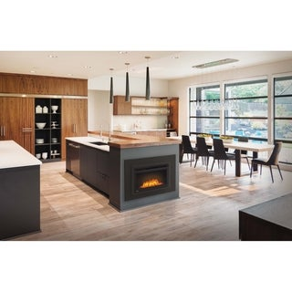 Napoleon Cinema Series 24-inch Glass Media Electric Fireplace Built-In Insert with Remote Control