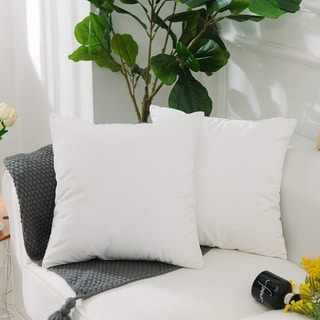 hrow Pillow Cover for Couch White