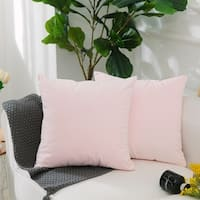 Decorative Square Throw Pillow Cases Pastel Pink