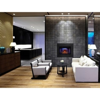 Napoleon Cinema Series 29-inch Log Set Electric Fireplace Built-In Insert with Remote Control